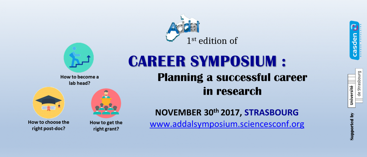 Career Symposium : Planning a successful career in research